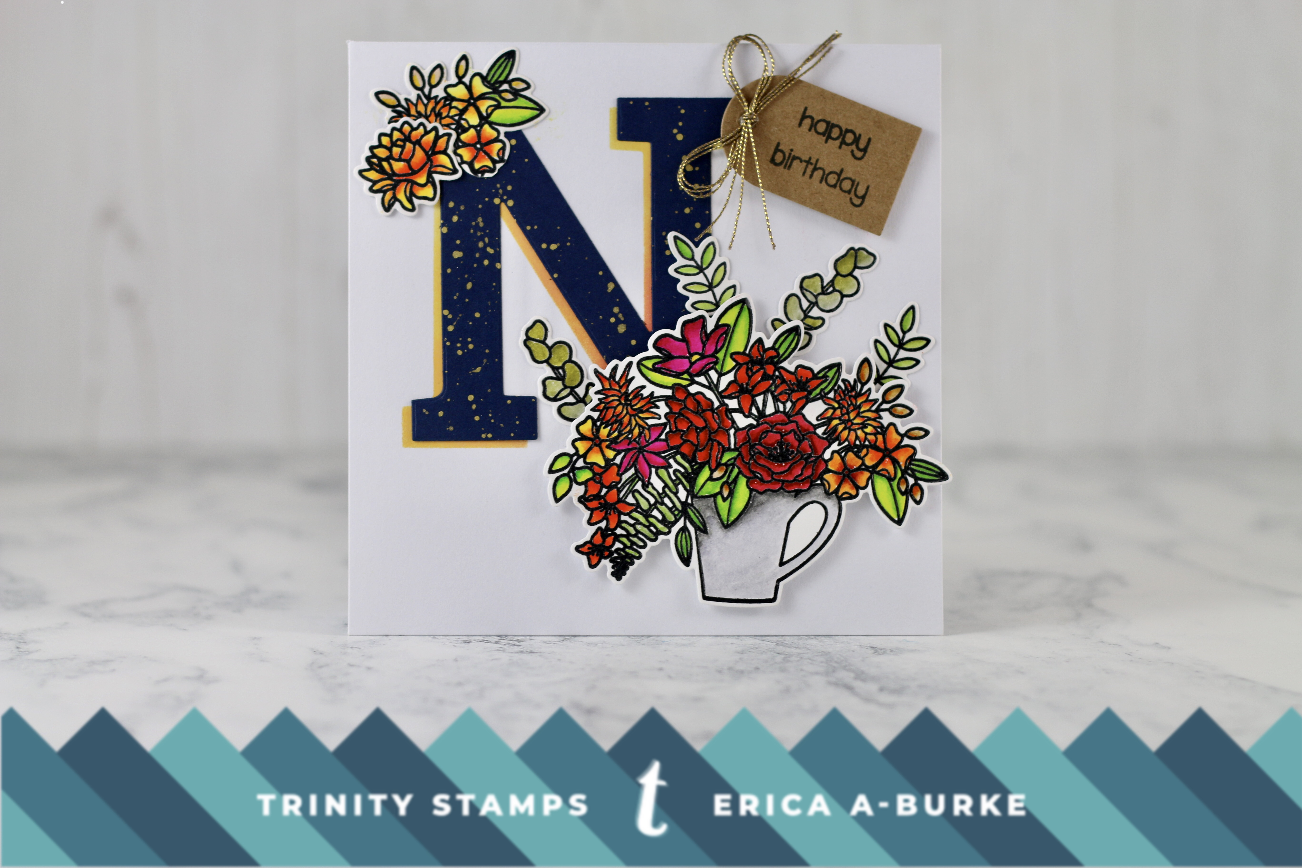 Hello sweet friend birthday card with erica trinity stamps this card is inspired by the altenew design team and the mega alphabet diecuts which i have and love to start out i cut out the n out of navy blue card izmirmasajfo