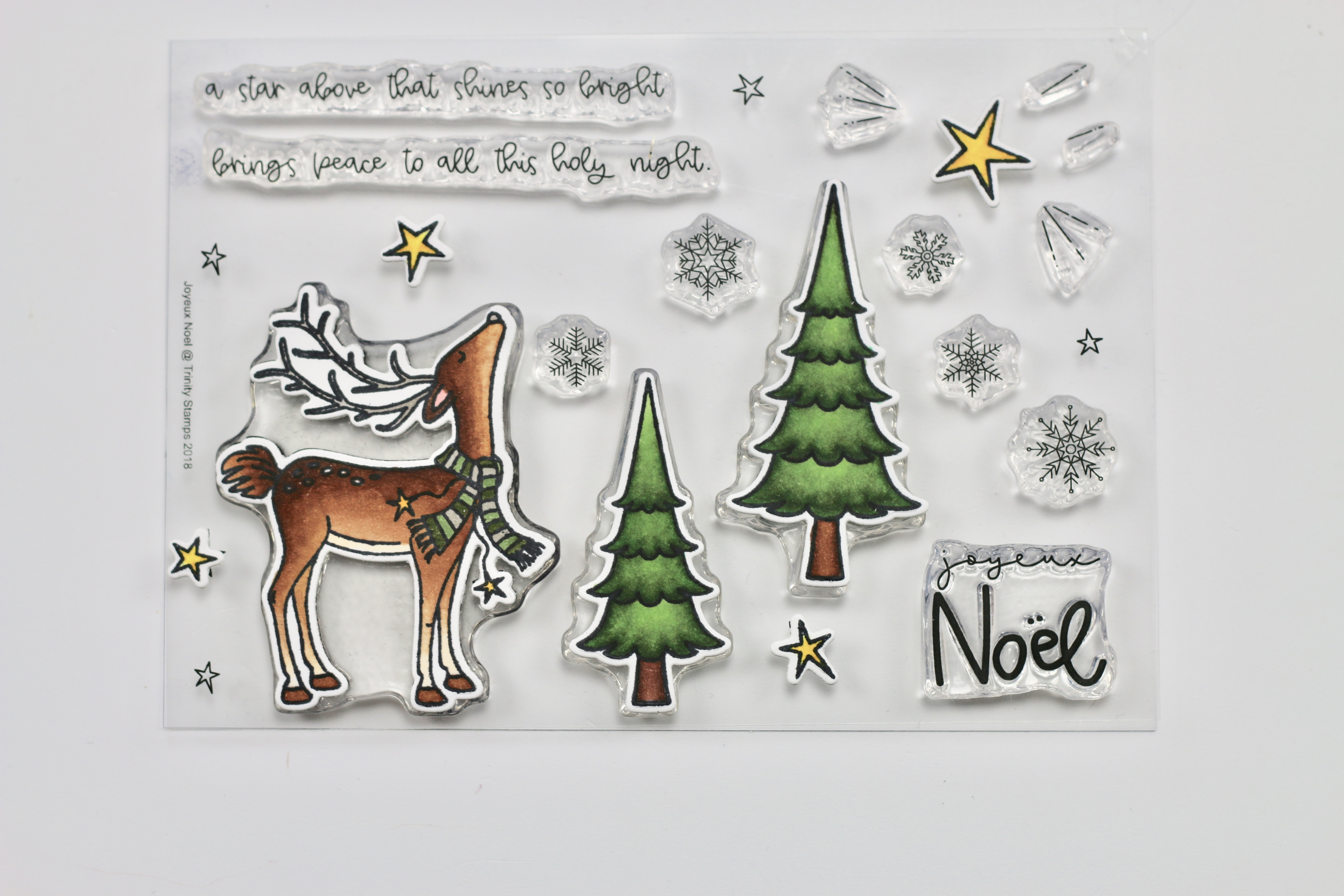 Christmas Card With Joyeux Noel Trinity Stamps