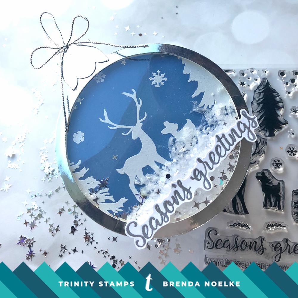 Season's Greetings Ornament – Trinity Stamps