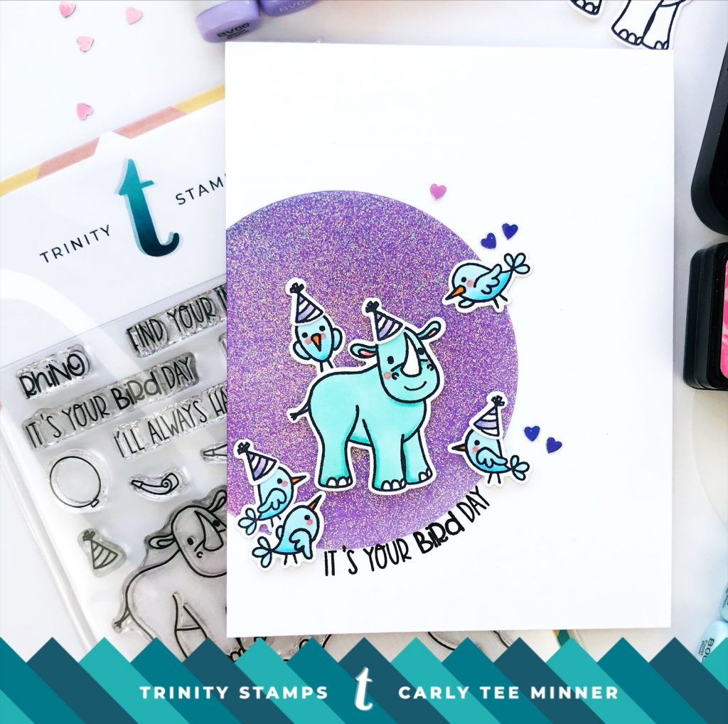 Stretch Your Stamps with Trinity Stamps Rhino Bird Day