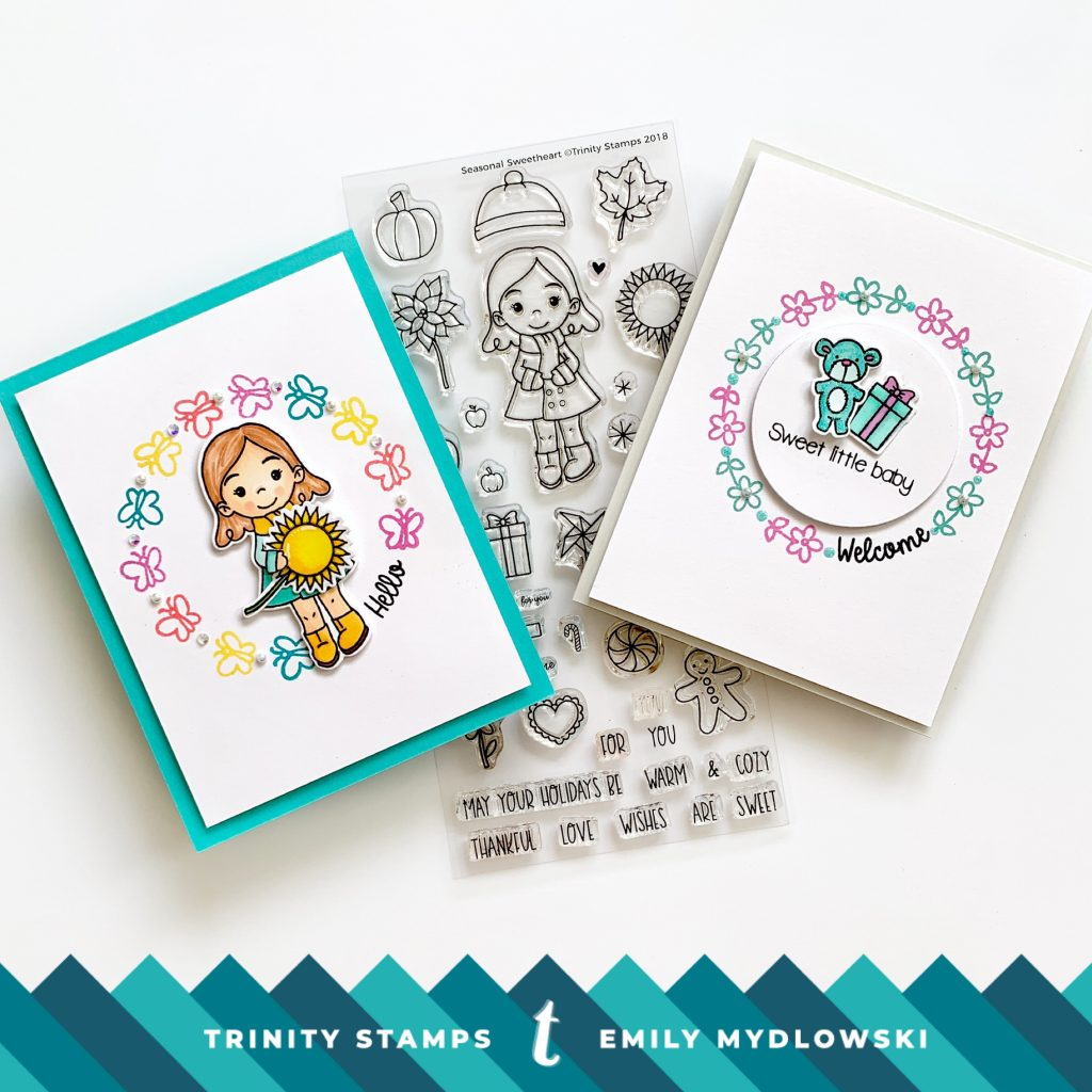 Mix It Up Monday! One Stamp Wreaths – Trinity Stamps