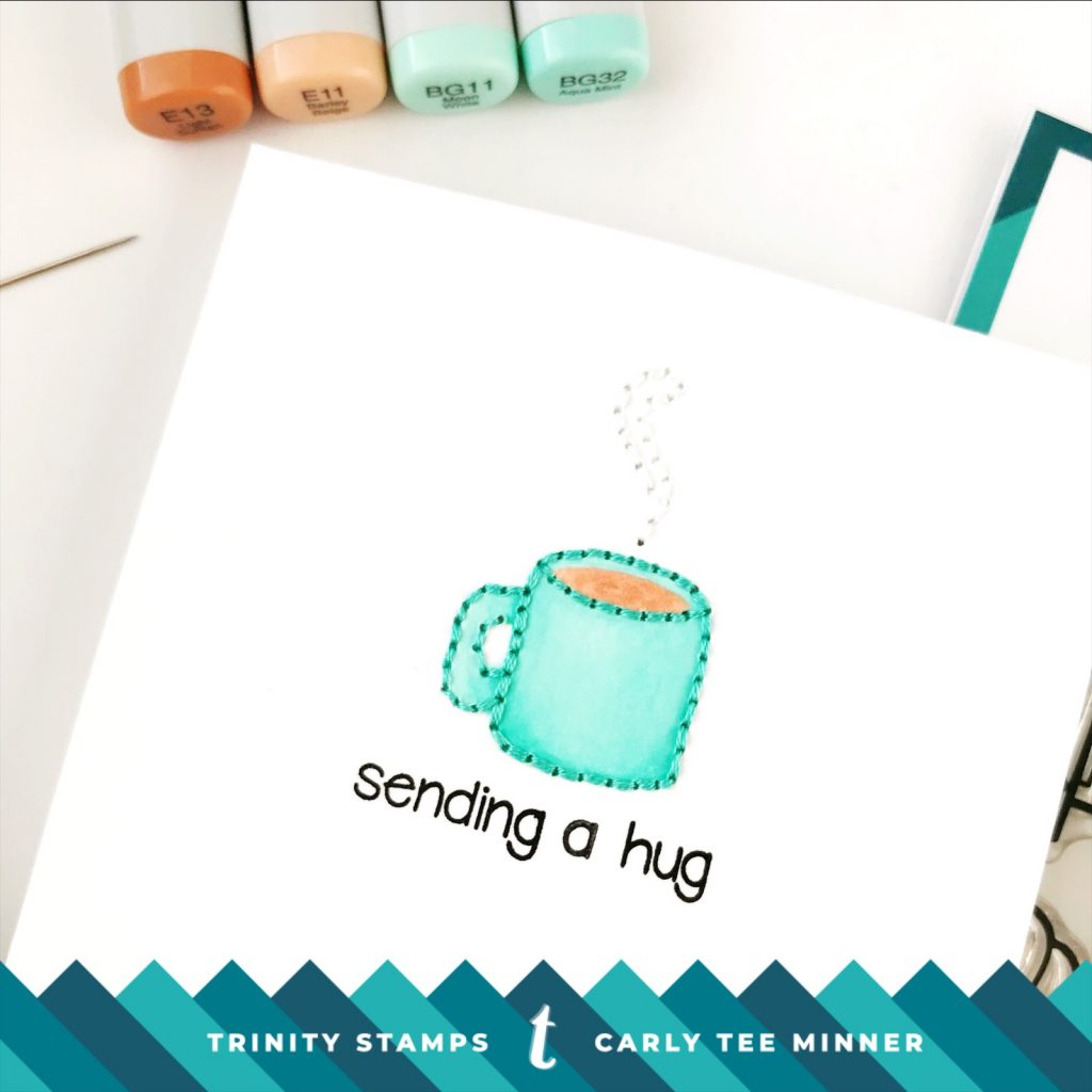 Trinity Stamps Coffee With Character card by Carly Tee Minner